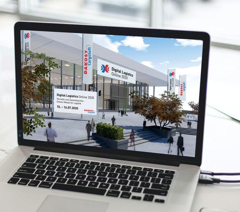 Screen der virtuellen Messe