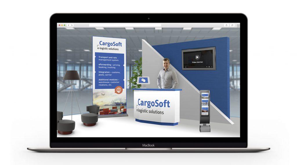 Der digitale CargoSoft Messestand.