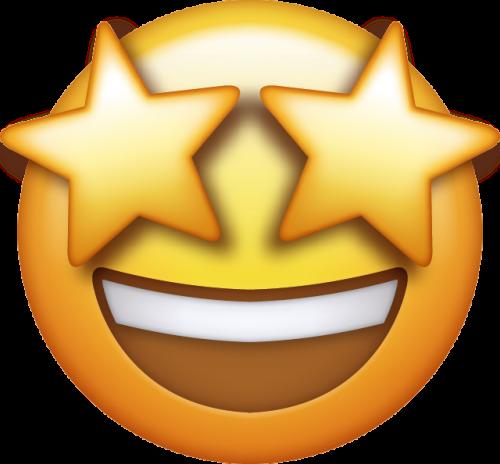 Emoji mit Sternen in den Augen